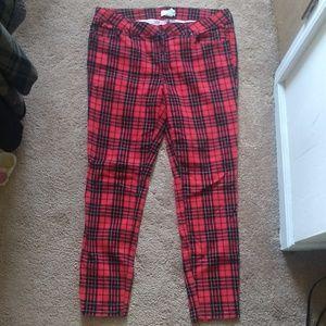 Punk rock Mid rise plaid pants